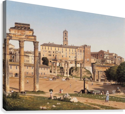 View of the Forum in Rome  Canvas Print