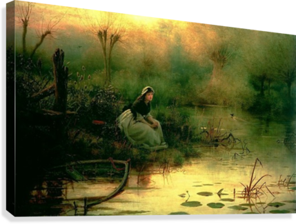 WILLOW FROM HAMLET GEORGE DUNLOP LESLIE  Canvas Print