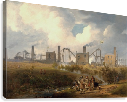 Workers near the factory  Canvas Print