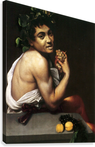 Young Sick Bacchus  Canvas Print