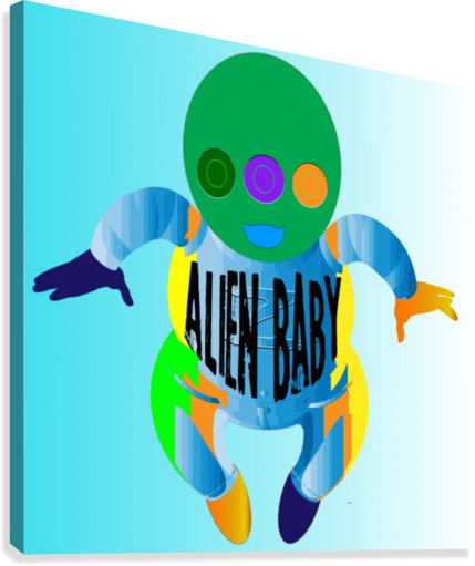 Alien Baby Canvas print