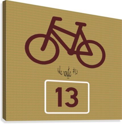 Bike Route number 13  Canvas Print
