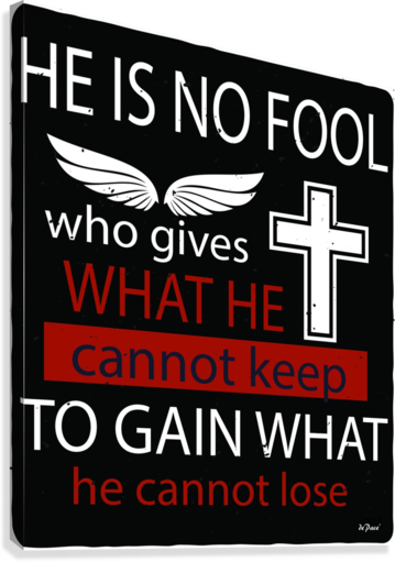 He Is No Fool  Canvas Print