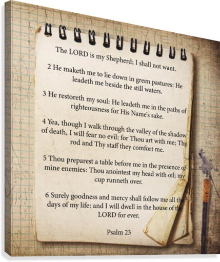 Psalm 23  Canvas Print