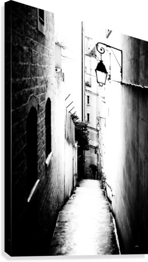 A VERY NARROW STREET IN PARIS DEPACE-  Canvas Print
