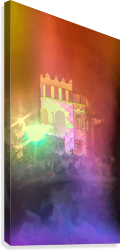 Festival Lights and Fire 2  Canvas Print