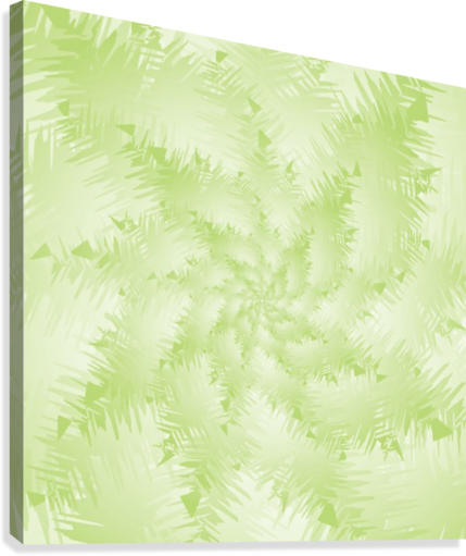 Green Snowflake  Canvas Print