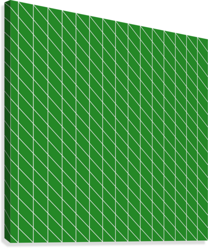 Green Checkers Pattern  Canvas Print