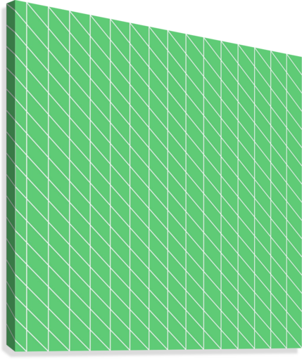 Green Color Checkers Pattern  Canvas Print