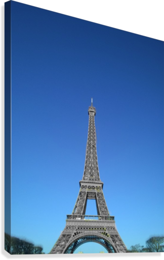 Eiffel tower Paris black and white with color  Canvas Print