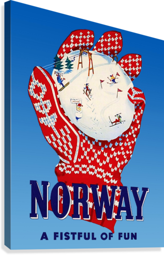 Norway Fistful of Fun  Canvas Print