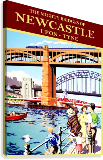 NEWCASTLE UPON TUNE VINTAGESUPREME  Canvas Print