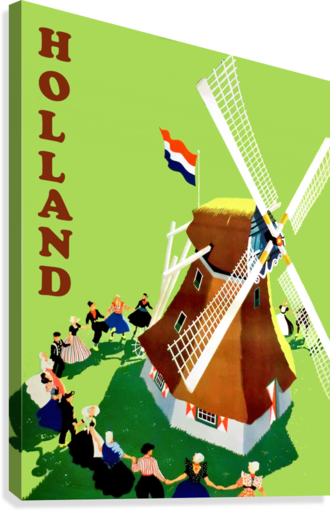Holland Windmill  Canvas Print
