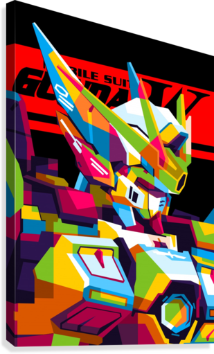 Wings Gundam Zero Pop Art  Canvas Print