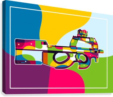 FN P90 Pop Art  Canvas Print