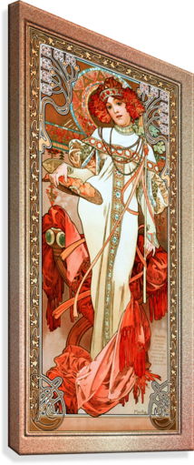 LAutomne by Alphonse Mucha Old Masters Reproduction  Canvas Print