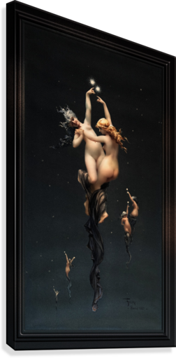 Twin Stars by Luis Ricardo Falero Classical Fine Art Xzendor7 Old Masters Reproductions  Canvas Print