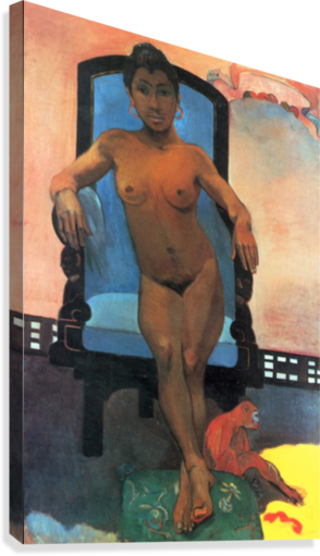 ANNA THE JAVA WOMAN BY GAUGUIN GAUGUIN  Canvas Print