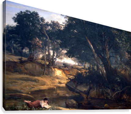 Forest of Fontainebleau by Corot  Canvas Print