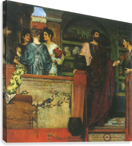Hadrian visiting a Roman-British pottery by Alma-Tadema  Canvas Print