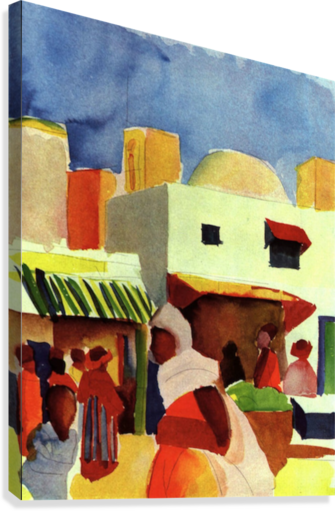 Market in Algier by Macke  Canvas Print