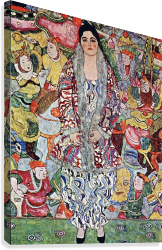 Portrait of Frederika Maria Beer by Klimt  Canvas Print
