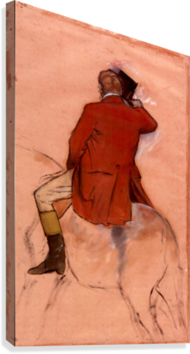 Rider with red jacket by Degas  Canvas Print