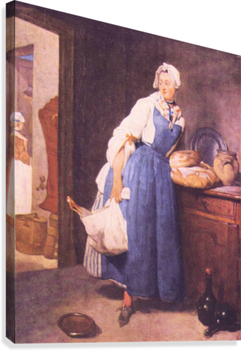 The bread by Jean Chardin  Canvas Print