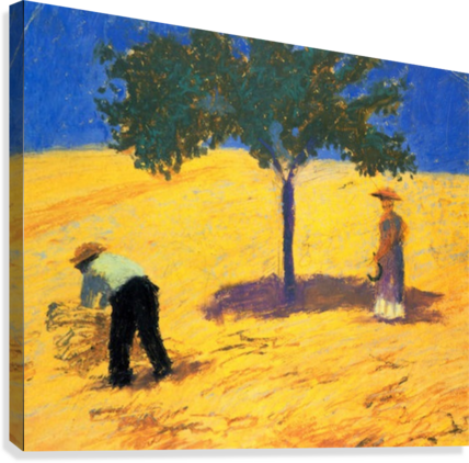 Tree in Cornfeld by Macke  Canvas Print