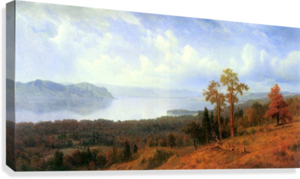 View of the Hudson River Vally by Bierstadt  Canvas Print