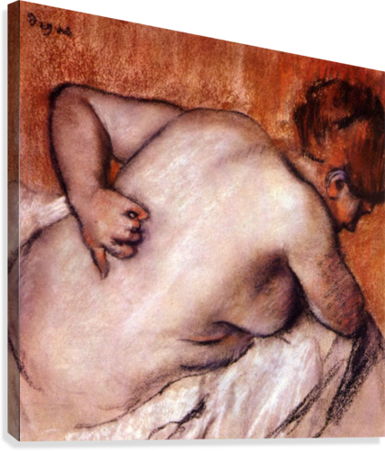 Womans back by Degas  Canvas Print