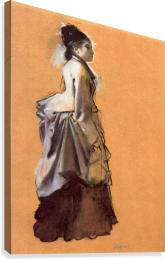 Young lady in the road costume by Degas  Canvas Print