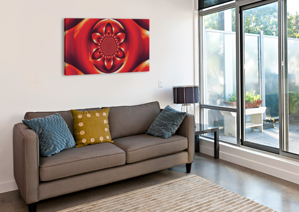 RED FIRE FLOWER 1 SHERRIE LARCH  Canvas Print