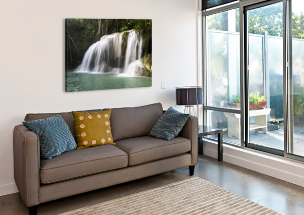 THAILAND, KANCHANABURI PROVINCE, ERAWAN NATIONAL PARK, ONE OF THE FALLS FROM THE 7-TIERED ERAWAN WATERFALL PACIFICSTOCK  Canvas Print