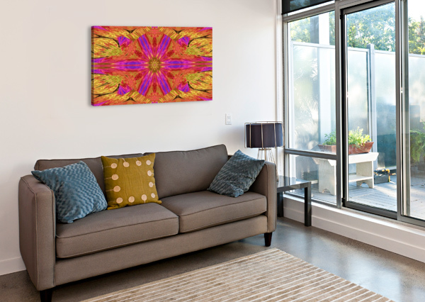 STAR FLOWER IN PINK SHERRIE LARCH  Canvas Print