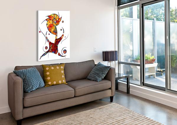 ESPANESSUA - IMAGINERY SPIRAL FLOWER CERSATTI ART  Canvas Print