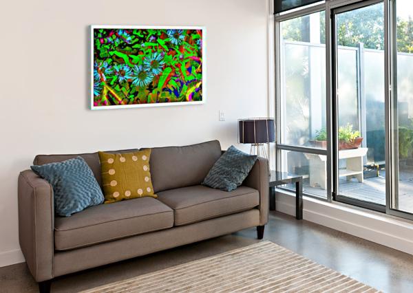 GREEN FLAT-PIC ART CHAZZI R  DAVIS  Canvas Print