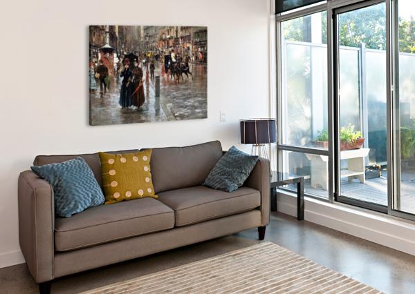 NAPLES VIA TOLEDO, WITH RAIN DROPS CARLO BRANCACCIO  Canvas Print