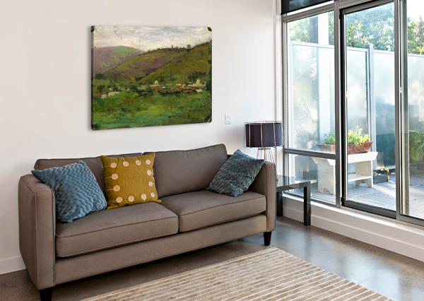 LANDSCAPE WITH HOUSES ON AN ITALIAN HILL CARLO BRANCACCIO  Canvas Print
