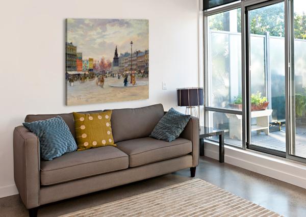 PLACE OF CLICHY CARLO BRANCACCIO  Canvas Print