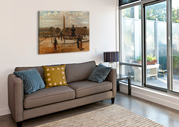 PLACE OF THE CONCORDE ANIMATED CARLO BRANCACCIO  Canvas Print