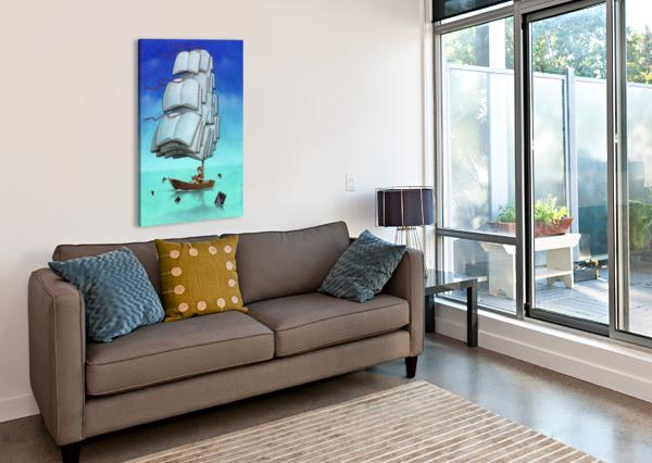 JOURNEY WITH SHARKS PAWEL KUCZYNSKI  Canvas Print
