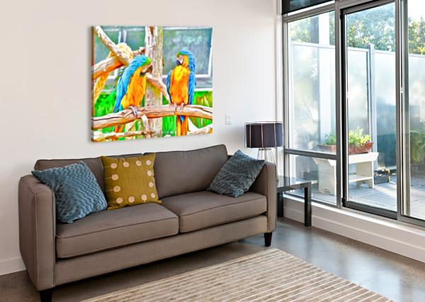 BIRDSTALKING CHAZZI R  DAVIS  Canvas Print