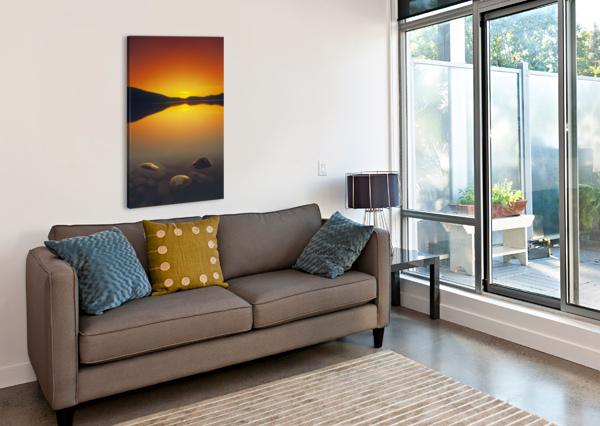 REESOR LAKE AT SUNSET, CYPRESS HILLS INTERPROVINCIAL PARK, ELKWATER, ALBERTA, CANADA PACIFICSTOCK  Canvas Print