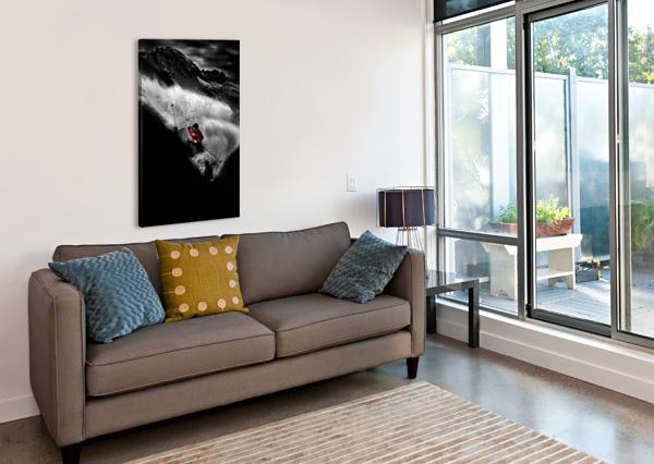DARK FREERIDE 1X  Canvas Print