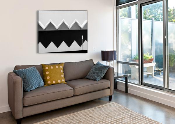 ZIG ZAG SHADOW 1X  Canvas Print