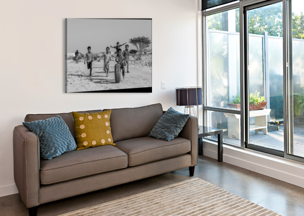 KIDS PLAYING 1X  Canvas Print