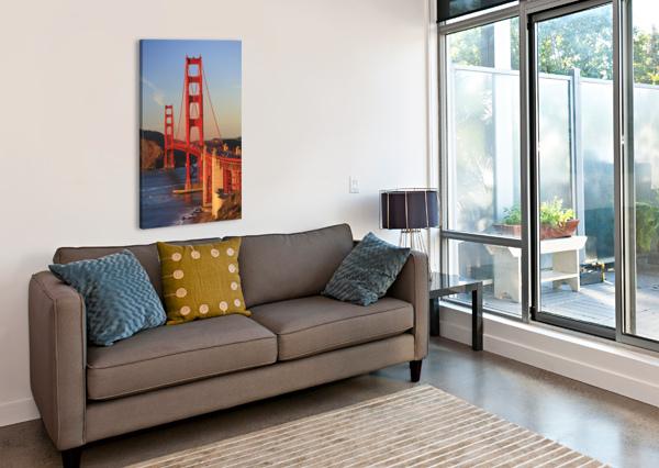 GOLDEN GATE BRIDGE; SAN FRANCISCO, CALIFORNIA, UNITED STATES OF AMERICA PACIFICSTOCK  Canvas Print