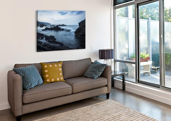 WAIAO BEACH IN YILAN COUNTY, BEAUTIFUL VOLCANIC LANDSCAPE; TAIWAN, CHINA PACIFICSTOCK  Canvas Print