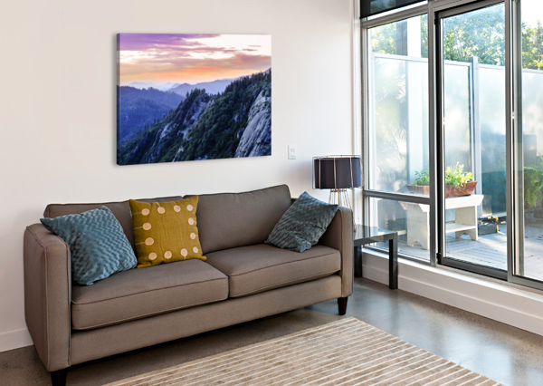 VIEW FROM MORO ROCK AT DUSK, SEQUOIA NATIONAL PARK; CALIFORNIA, UNITED STATES OF AMERICA PACIFICSTOCK  Canvas Print